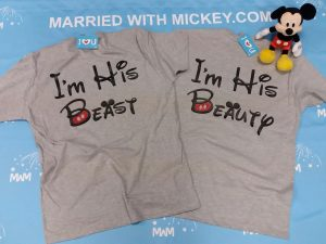 I'm His Beauty I'm His Beast matching grey mens tshirts married with mickey