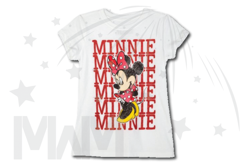 Minnie Mouse Toddler White Tshirt XS-XL sizes