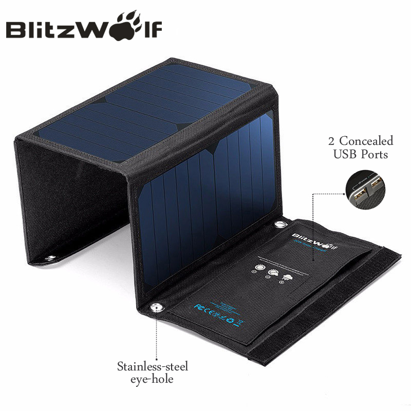 solar powered iphone charger blitzwolf 20w solar power bank solar panel portable 16158