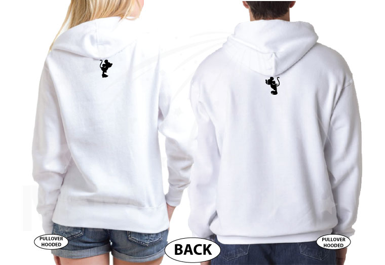 Mickey Minnie Mouse Cute Little Kiss married with mickey white hoodies