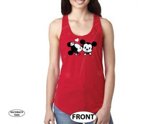 Disney Mickey Minnie Mouse Very Cute Kiss Shirt For Mrs married with mickey red tank top