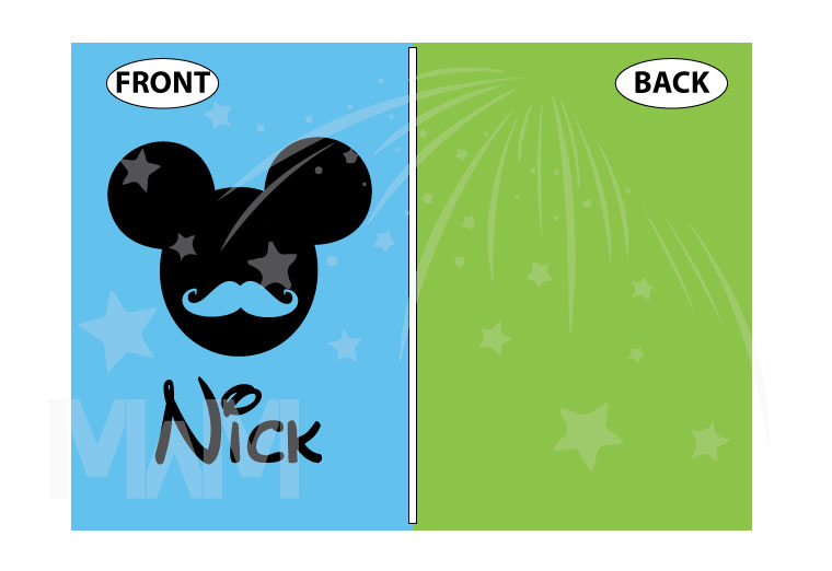 Disney Mickey Mouse Mustaches With Custom Name married with mickey