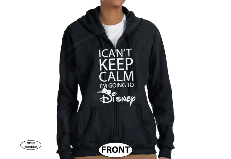 I Can't Keep Calm I'm Going To Disney Shirt married with mickey black zip up