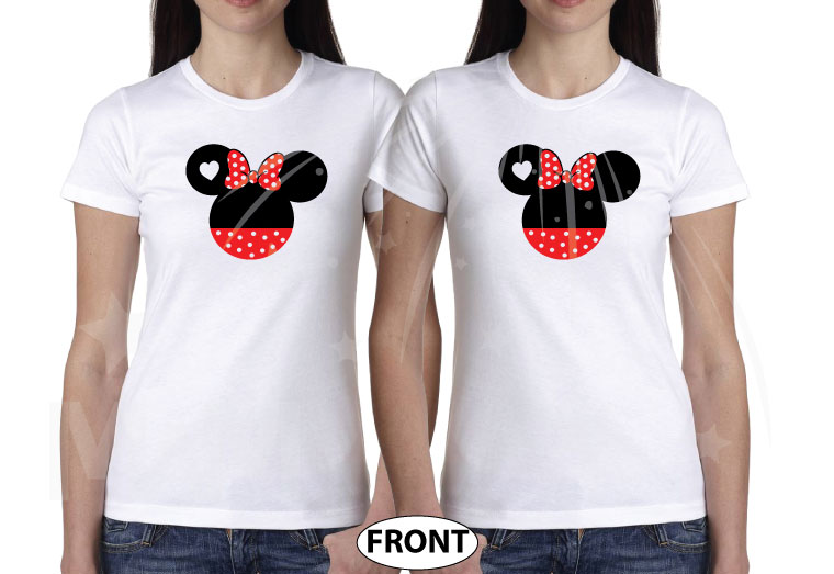 LGBT Lesbian She's My Princess I'm Her Princess Minnie Mouse Bow Polka Dot white tshirts