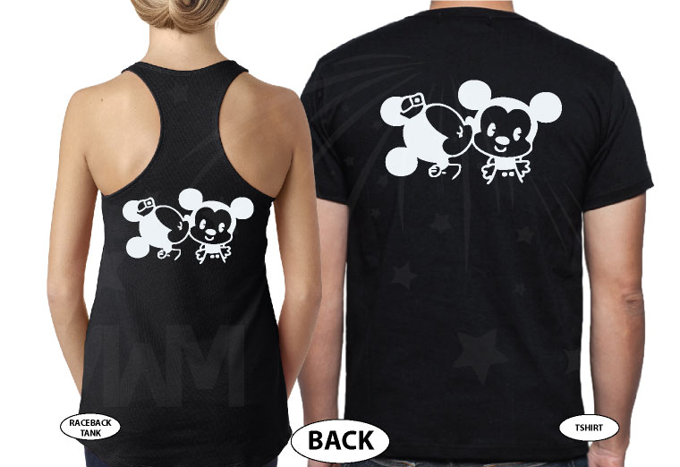 If Lost Return To Mary (Your Name) With Little Mickey Minnie Mouse Cute Kiss married with mickey black tank top and tshirt