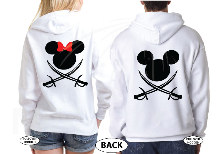 Disney Couple Mickey Minnie Mouse Pirate Awesome Shirts With Custom Names married with mickey white pullovers