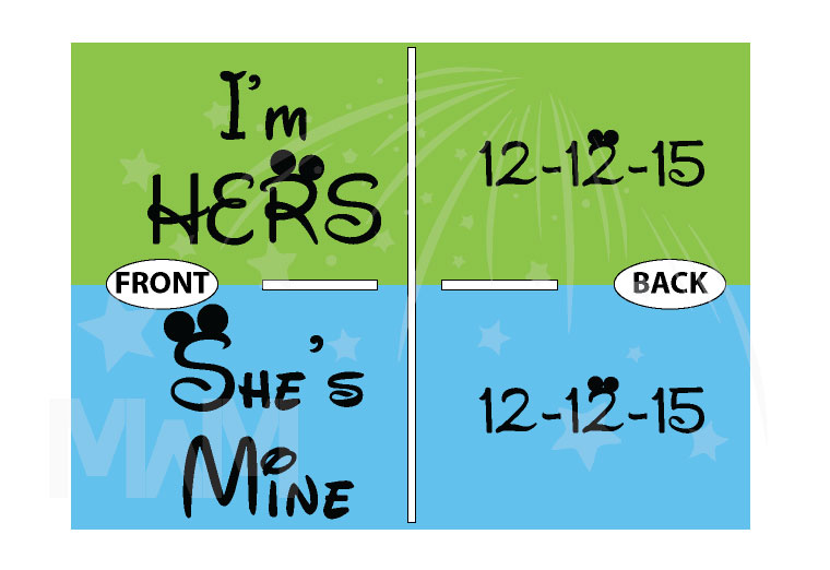 LGBT Lesbian She's Mine I'm Hers With Wedding Date married with mickey