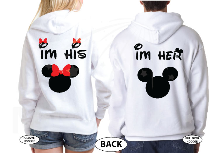 True Love I'm Her Mickey Mouse I'm His Minnie Mouse married with mickey mwm white hoodies