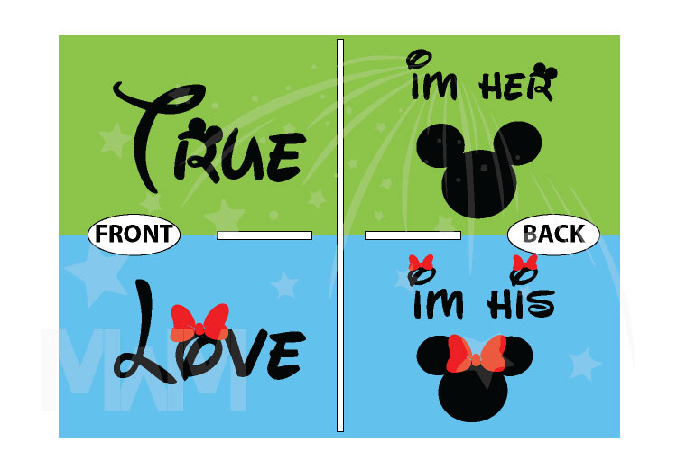 True Love I'm Her Mickey Mouse I'm His Minnie Mouse married with mickey mwm