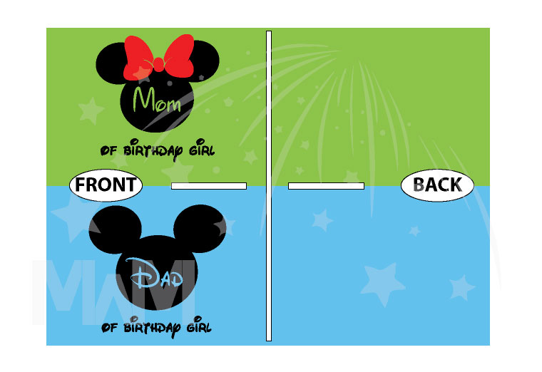 Dad and Mom Of Birthday Girl (Boy) Disney Family Couple Shirts married with mickey