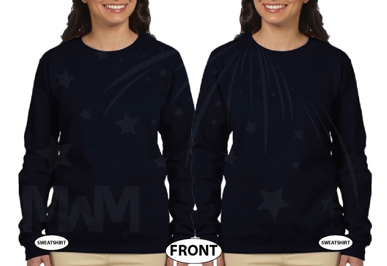 LGBT Lesbian Soul Mate Matching Couple Apparel married with mickey mwm black sweaters