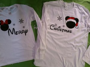 Merry Christmas Disney Matching Shirts Mickey and Minnie Mouse Heads with Snowflakes World's Cutest Matching Couple Shirts etsy holidays 5XL, married with mickey