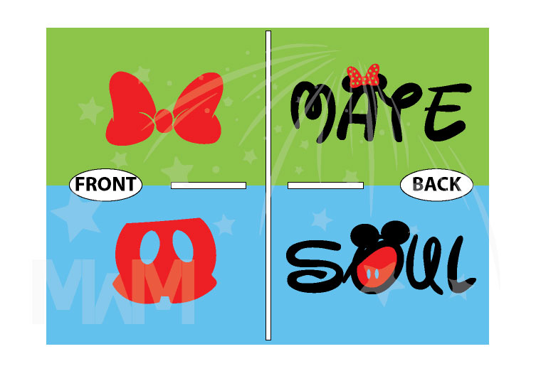 Soul Mate Mickey Mouse Pants Minnie Mouse Bow married with mickey