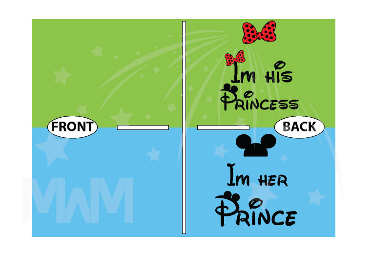 I'm His Princess I'm Her Prince Bow Ears On Hood married with mickey