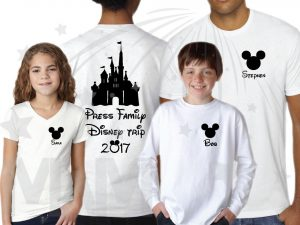 Matching Family Shirts, Last Name, Disney Trip 2017, Mickey Mouse Head with Custom Names married with mickey white tshirts, long sleeves