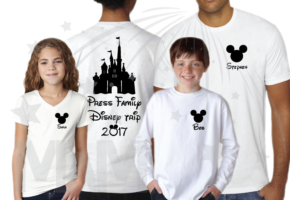 Matching Family Shirts, Last Name, Disney Trip 2017 ...