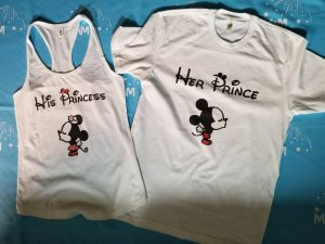 Her Prince His Princess Mickey Minnie Mouse Kiss married with mickey