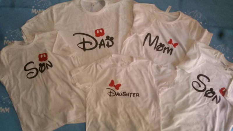 Family Matching Disney Shirts, Mom/Dad, Son/Daughter (get as many shirts as you need) Disney Cinderella Castle, Family Trip, Vacation, Weekend Custom Date married with mickey white tshirts