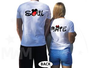 Soulmate Shirts Mickey's Hands with Initials married with mickey white tshirts