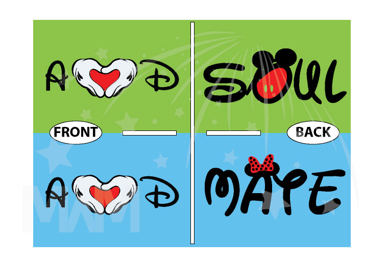 Soulmate Shirts Mickey's Hands with Initials married with mickey