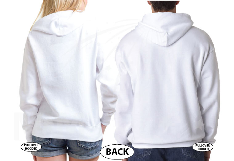 Dad and Mom Of Birthday Boy (Girl) married with mickey white hoodies