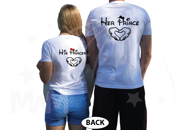She's Mine He's Mine Her Prince His Princess Mickey's Hands In Heart Shape Unisex Sweatshirts, Ladies T-Shirts, Womans Tank Tops, Mens Tank Tops and more married with mickey white tshirts