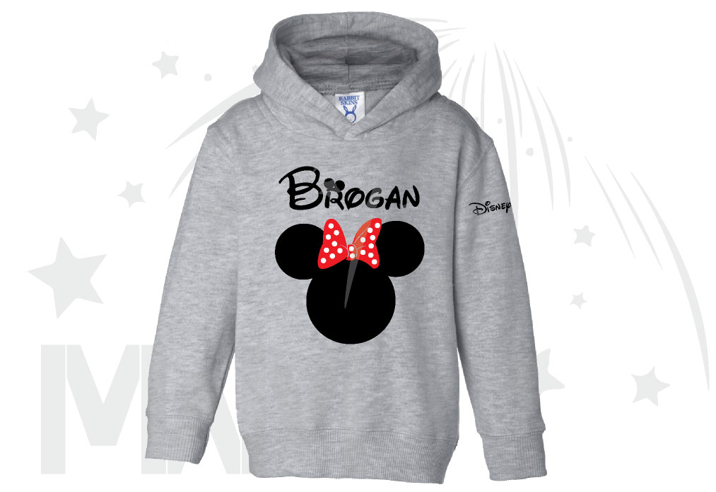 6d810fc57e Disney Minnie Mouse Red Polka Dot Cute Bow Or Mickey Mouse Head Shirt With  Custom Name (500232)