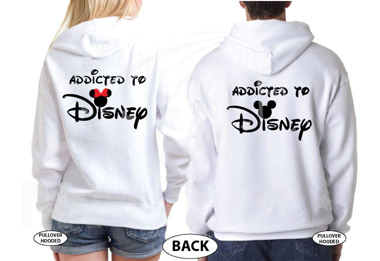 Cute Addicted To Disney Mickey Minnie Heads Minnie Bow married with mickey white sweater
