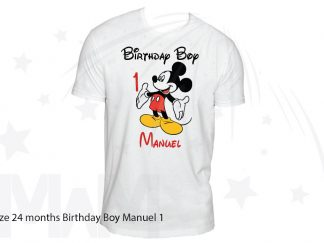 Custom Order For Maria, 10 white tshirts married with mickey