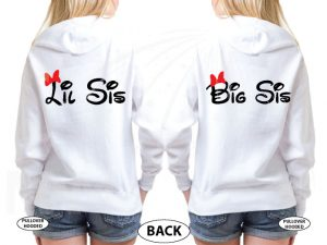 Big Sis Lil Sis Disney Family Shirts With Custom Names married with mickey white sweaters