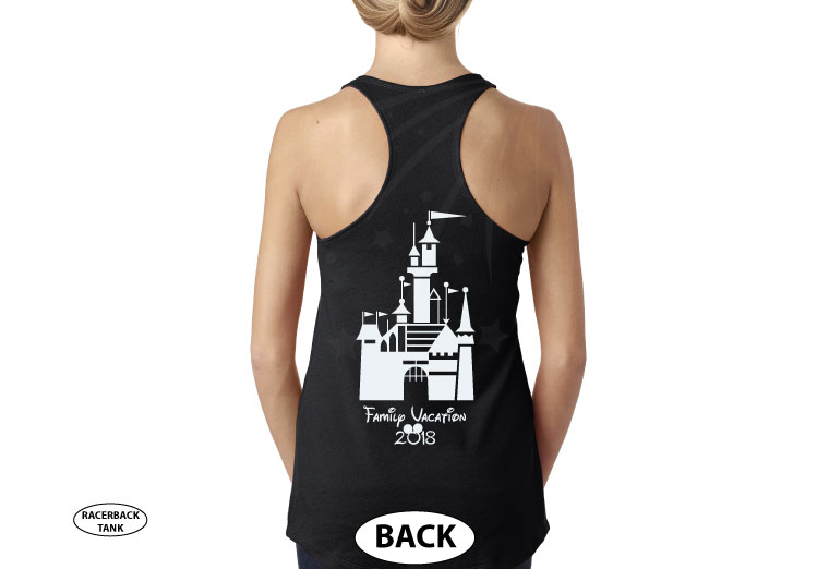 Mom Disney Font Shirt Minnie Mouse With Disney Castle Cute Red Bow married with mickey black tank top