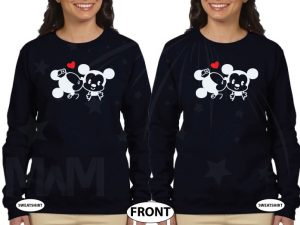 LGBT Lesbian Cute Little Mickey Minnie Mouse Kiss For Mrs married with mickey black sweaters