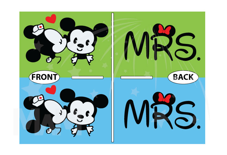 LGBT Lesbian Cute Little Mickey Minnie Mouse Kiss For Mrs married with mickey