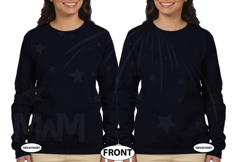 LGBT Lesbian Hers Couple Matching Shirts married with mickey black sweaters