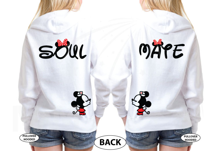 LGBT Lesbian Soul Mate She's Mine I'm Hers Minnie Mouse Kissing married with mickey white sweaters