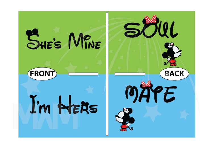 LGBT Lesbian Soul Mate She's Mine I'm Hers Minnie Mouse Kissing married with mickey