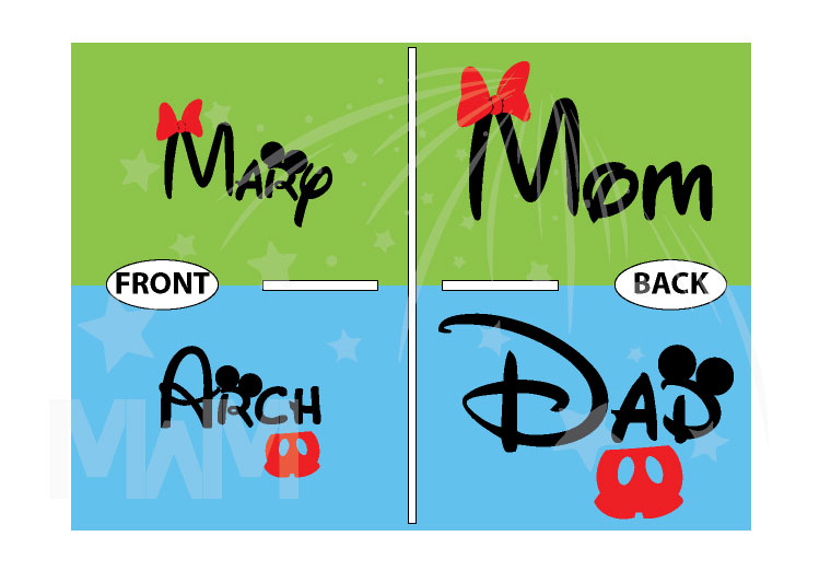 Dad and Mom Disney Family Matching Shirts married with mickey
