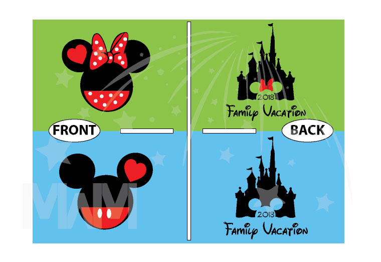 Cinderella Castle Mickey Head Family Vacation Custom Text Custom Date Minnie Mouse Head 2018 married with mickey