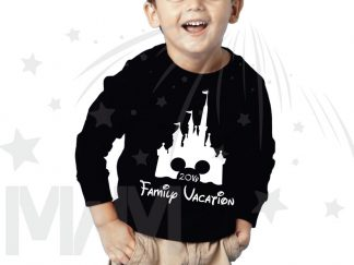 Cinderella Castle Minnie/Mickey Mouse Head Family Vacation 2018 Toddler Sizes (500349) married with mickey black sweater