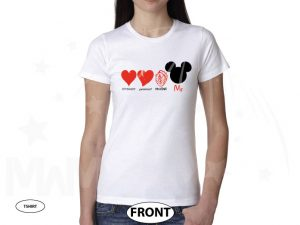 Optimist Pessimist Realist Me Love Mickey Mouse Addicted To Disney married with mickey white tshirt