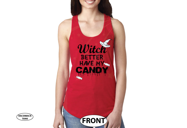 Witch Better Have My Candy Funny Cool Shirt For Halloween Party Kids and Adult Sizes married with mickey red tank top
