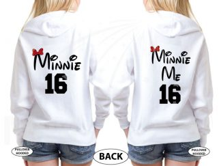Mickey Mouse Hands In Heart Shape Minnie Minnie Me Family Matching Shirts 2016 married with mickey white hoodies