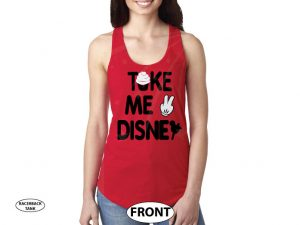 Take Me To Disney Shirt, ladies and mens cut any style, Married With Mickey, World's Cutest Apparel red tank top