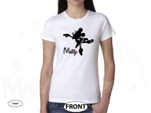 Minnie Mouse Ballerina Shirt With Name Girls Shirt Toddler Sizes (500392) married with mickey white tshirt