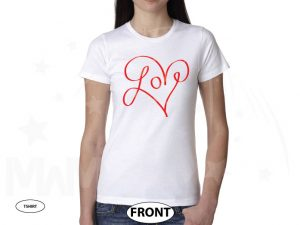Love Shirt For Ladies married with mickey white tshirt