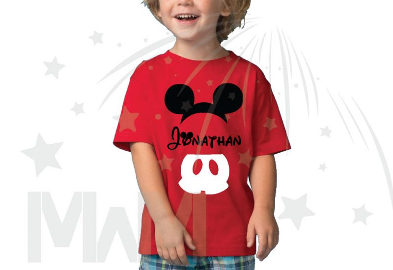 Mickey Mouse Costume Mickey Pants Mickey Ears With Custom Name Toddler Sizes married with mickey red tshirt
