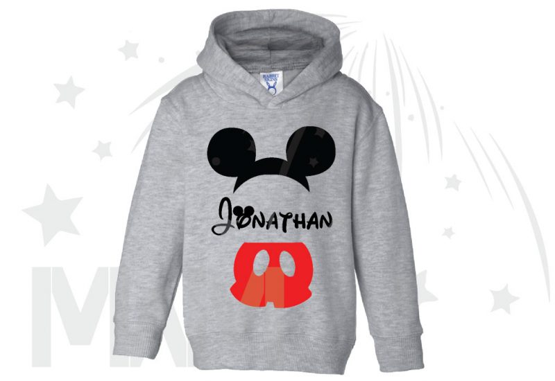 Mickey Mouse Costume Mickey Pants Mickey Ears With Custom Name Toddler Sizes married with mickey grey hoodie