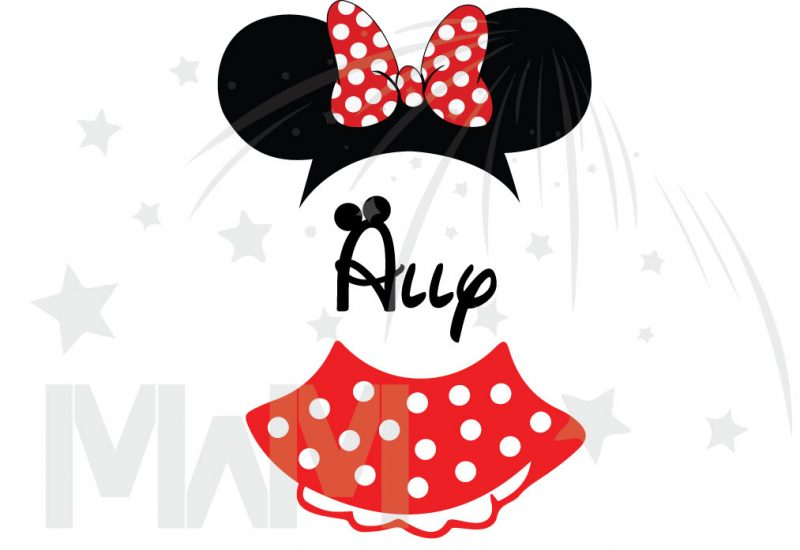 Minnie Mouse Costume Minnie Polka Dot Skirt Mickey Ears With Custom Name Toddler Sizes married with mickey