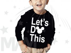 Let's Do This Mickey Head Toddler Sizes Married With Mickey black long sleeve