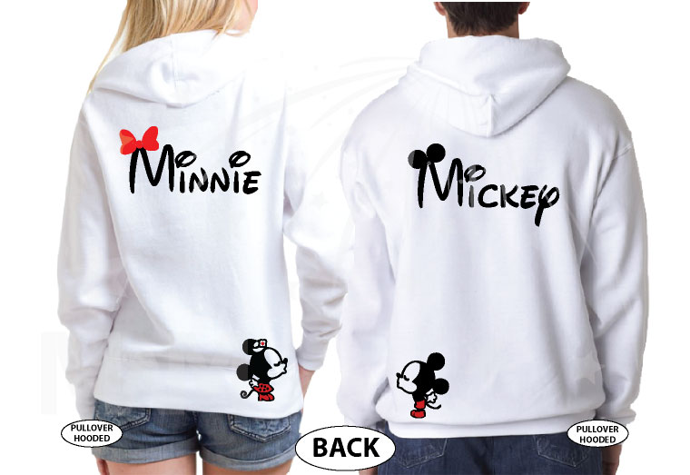 Mickey Minnie Super Cute Disney Matching Couple Shirts, Mix and Match Styles, Add Rhinestones (free, optional) married with mickey white hoodies